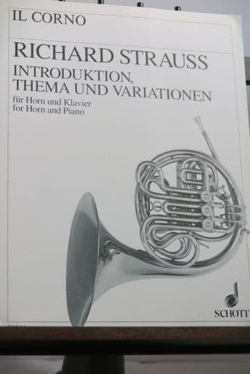 Strauss R - Introduction Theme & Variations Op AV52 for Horn & Piano
